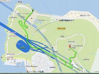 門司城跡までのルート.jpg